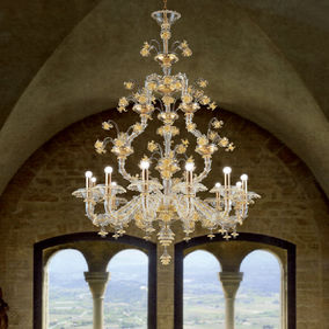 lustre classique / en verre de Murano / en verre soufflé / à incandescence