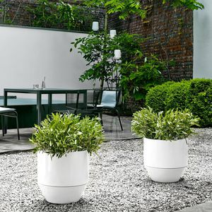 pot de jardin en terracotta / rond / résidentiel