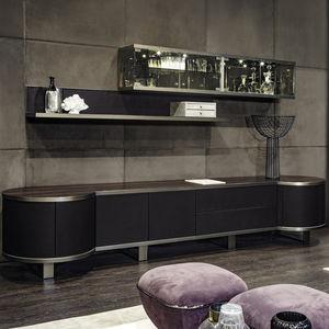 buffet contemporain / en bois / en cuir / en marbre