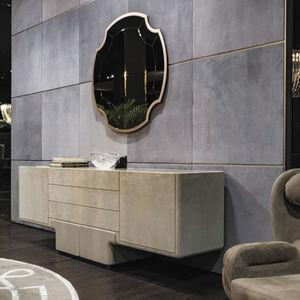 buffet contemporain / en cuir / en marbre / gris