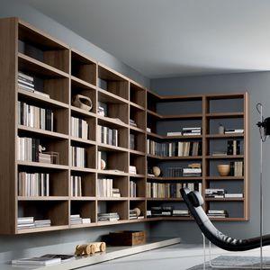 bibliothèque murale / contemporaine / en bois / par Mauro Lipparini