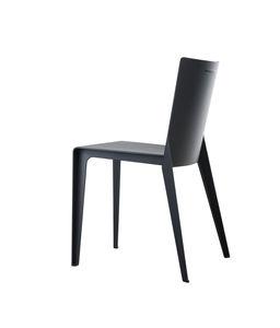 chaise contemporaine / en composite / grise / beige