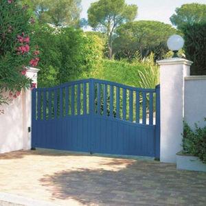 portails battants / en aluminium / à barreaux / résidentiels