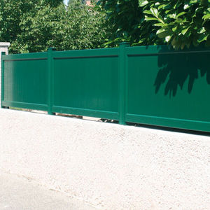 clôture de jardin / à lames / en aluminium / teintée