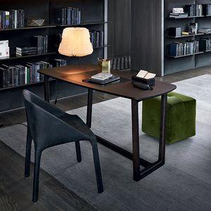 bureau en plaqué bois / en MDF / en bois massif / contemporain