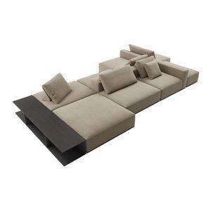 canapé modulable / contemporain / en tissu / pour hôtel