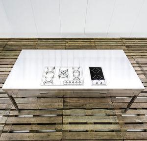 table de cuisson à induction / à gaz / en inox / mixte