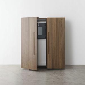armoire de rangement pour cuisine contemporain / en bois