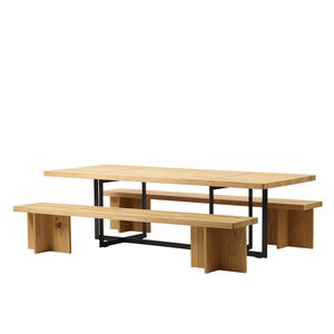 ensemble table et bancs contemporain