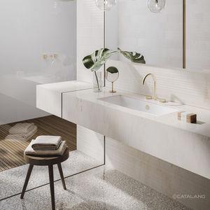 vasque sous plan / rectangulaire / en céramique / contemporaine