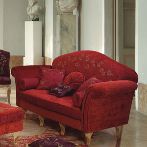 canapé de style / en velours / 2 places / rouge