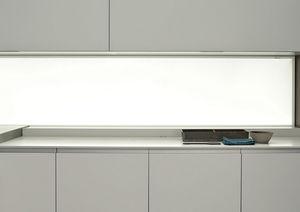 panneau décoratif en verre / mural / laqué / LED