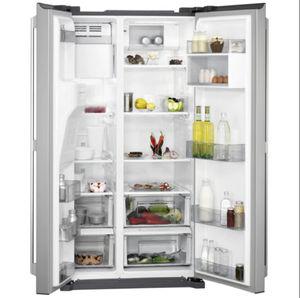 réfrigérateur congélateur avec congélateur en haut / résidentiel / à double porte / gris