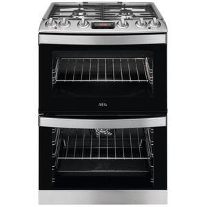 cuisinière à gaz / avec gril intégré / 4 foyers / 2 fours