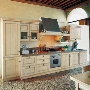 cuisine classique / en frêne / en pierre / laquée