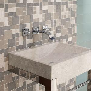 mosaïque de salle de bain / murale / à motif géométrique / grise