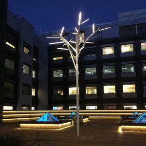 lampadaire urbain / design / en acier inoxydable / à LED
