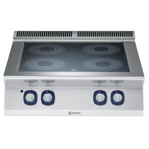 table de cuisson vitrocéramique / professionnelle / modulaire / 4 foyers