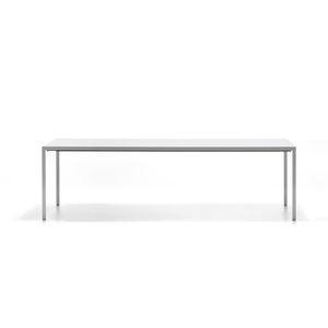 table contemporaine / en aluminium / avec piètement en aluminium / rectangulaire