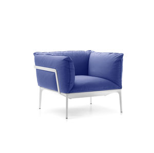 fauteuil contemporain / en tissu / en aluminium / avec revêtement amovible