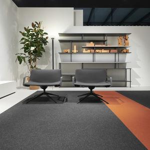 fauteuil contemporain / en acier / en tissu / avec dossier haut