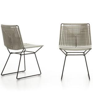 chaise contemporaine / luge / imperméable / en acier