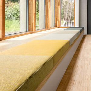 tissu d'ameublement / uni / en polyester / en coton