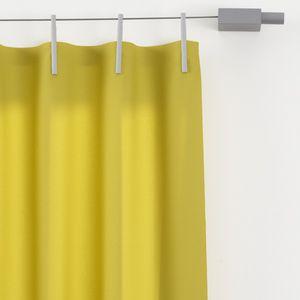 rideau uni / à passants / en polyester