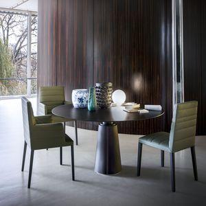 table à manger contemporaine / en frêne / en plaqué bois / en MDF