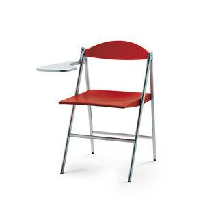chaise contemporaine / tapissée / pliante / à tablette