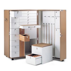 armoire malle armoire / contemporaine / en bois / en cuir
