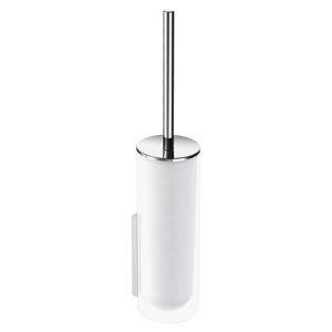 brosse de toilettes en verre / en métal chromé / murale / pour hôtel