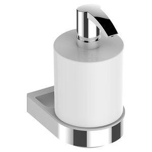 distributeur de savon pour hôtel / pour hôpital / mural / en métal chromé