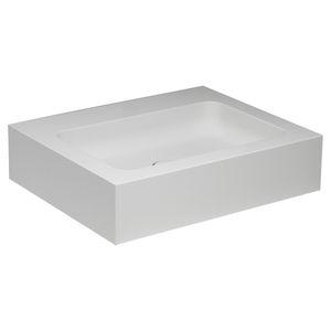 vasque à poser / rectangulaire / en composite / contemporaine
