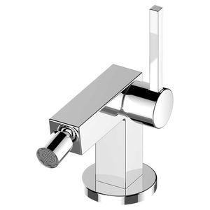 mitigeur pour bidet / en métal chromé / 1 trou / pour hôtel