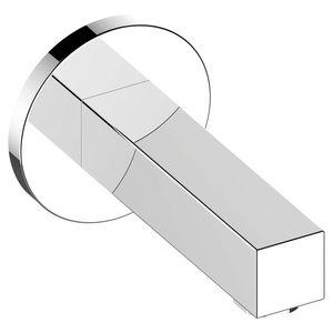 mitigeur pour baignoire / mural / en métal chromé / 1 trou
