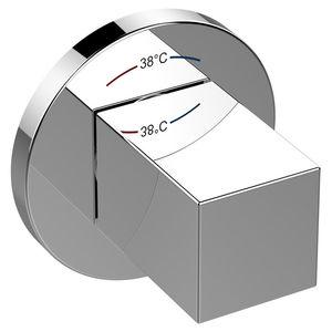 mitigeur pour vasque / mural / en métal chromé / thermostatique