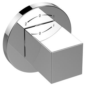 mitigeur pour baignoire / mural / en métal chromé / trois voies