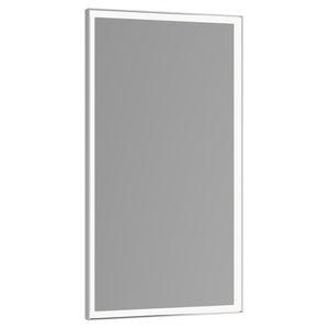 miroir de salle de bain mural / lumineux (LED) / contemporain / rectangulaire