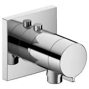 mitigeur de douche / mural / en métal chromé / thermostatique