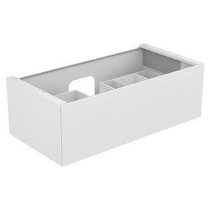 meuble vasque suspendu / en bois / en céramique / contemporain