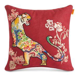 coussin carré / à motif animalier / en laine / en polyamide