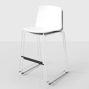 chaise de bar contemporaine / tapissée / luge / empilable