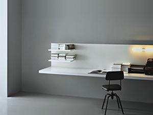 bureau en bois / contemporain / pour hôtel / mural