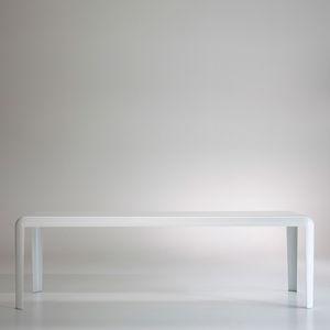 table contemporaine / en tôle / rectangulaire / carrée