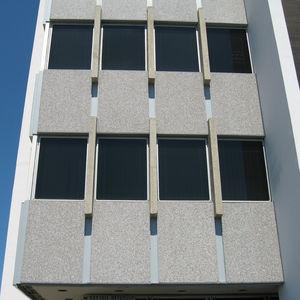 bardage en panneaux / en granit / poli / aspect marbre