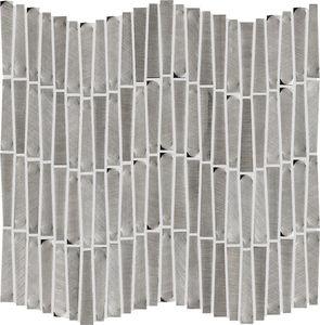 mosaïque d'intérieur / murale / en aluminium / rectangulaire