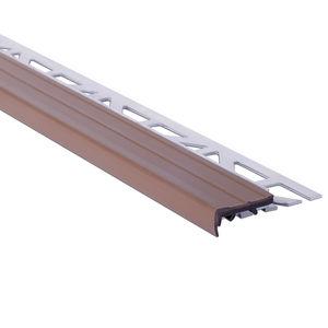 profilé de finition nez de marche / en bois / aluminium / en inox