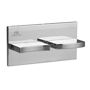 mitigeur de douche / à encastrer / en métal chromé / 2 trous