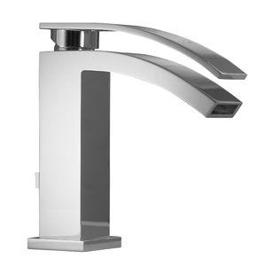 mitigeur pour vasque / sur plan / en laiton chromé / 1 trou